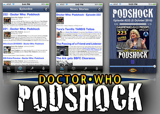 DW Podshock App Screens